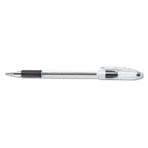Pentel R.S.V.P. Ballpoint Stick Pen, Black Ink, Medium, Dozen