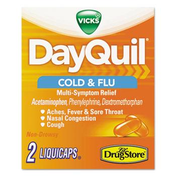 Daytime Cold & Flu Caplets, 20 Two-Packs/Box