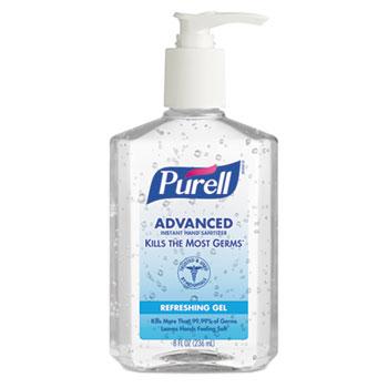 Instant Hand Sanitizer, 8oz Pump Bottle