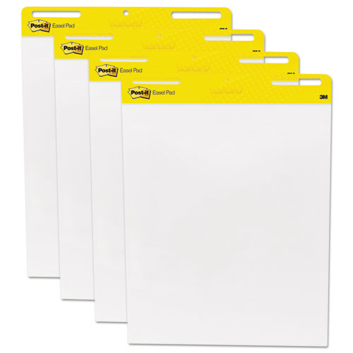 Post-it Self Stick Easel Pads, 4 30-Sheet Pads/Carton